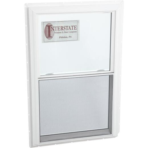 Interstate Model 5100 39 In. W. x 60 In. H. White Vinyl Double Hung Egress Window with South Glass Pack