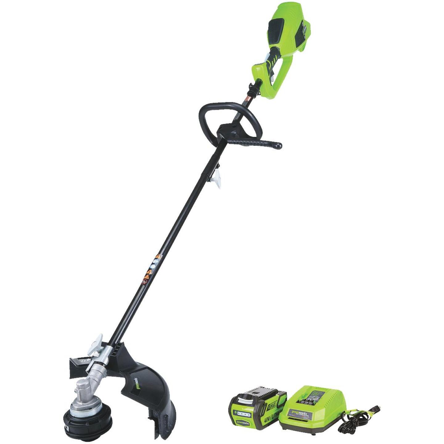 Greenworks G-Max 40V 14 In. Lithium Ion Straight Cordless String Trimmer Image 1