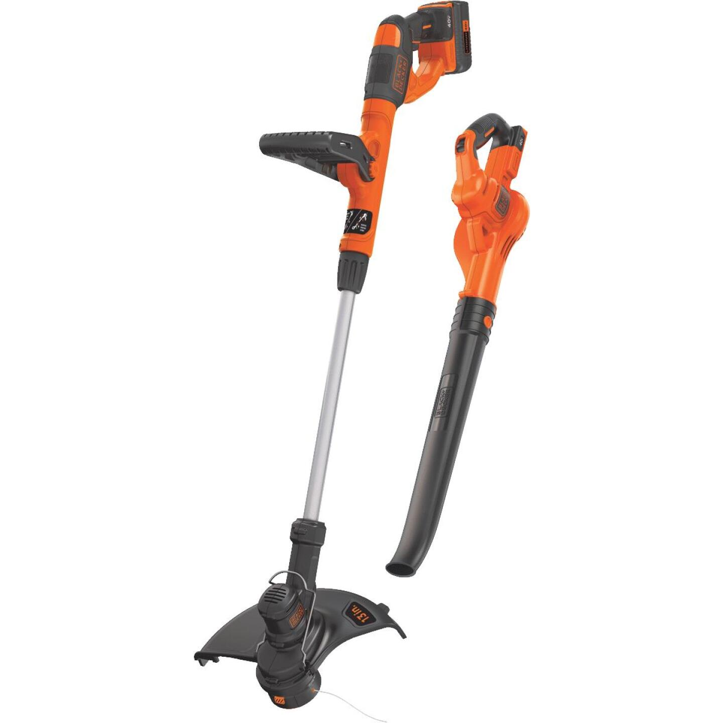 Black & Decker Max 40V String Trimmer & Sweeper Combo Kit Image 1