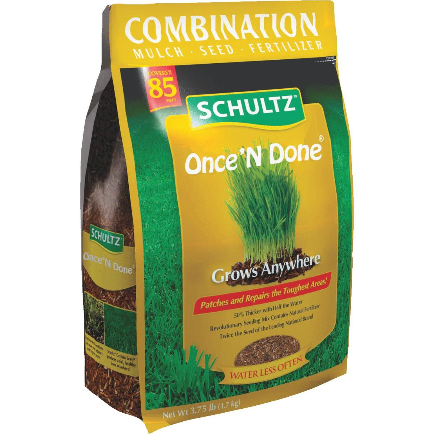 Schultz Once 'N Done 3.75 Lb. 85 Sq. Ft. Coverage Sun & Shade Grass Patch & Repair Image 4